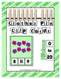 Hibiscus Math Center Clip Cards  Pre-K / Kindergarten / Da