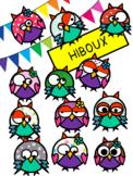 Hiboux OWLS Cliparts