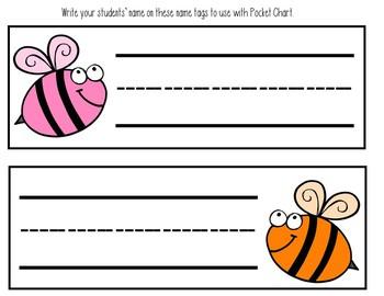 Hickety Pickety Bumble Bee (Pocket Chart Activity)