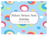 Hickory, Dickory, Dock Activities