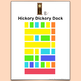 Hickory Dickory Dock Color-Coded Piano Song Sheet, It's Easy to Play by Color!
