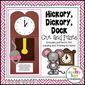 Hickory Dickory Dock Cut and Paste