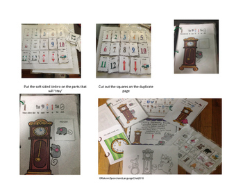 Hickory Dickory Dock Extended Nursery Rhyme, Adapted, Reader, Rebus Reader