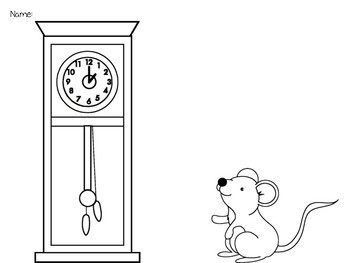 Hickory Dickory Dock: K-1 Music Lesson for beat, instruments, and rhythm