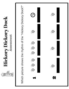 Hickory Dickory Dock Listening Map and Assessment