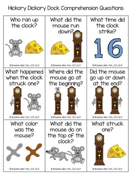 Hickory Dickory Dock Mini Unit for Preschoolers