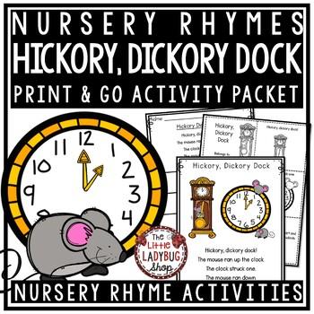 Hickory Dickory Dock Nursery Rhyme Printable Activities