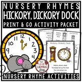 Hickory Dickory Dock Nursery Rhyme for Kindergarten: Nursery Rhyme Activities