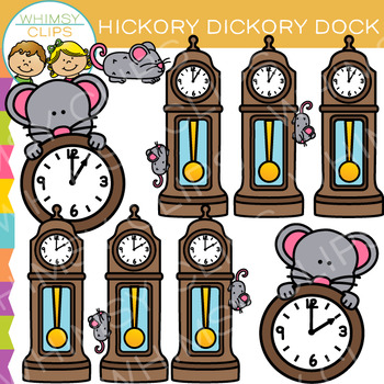 Hickory Dickory Dock Nursery Rhyme Clip Art