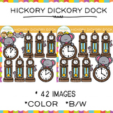 Hickory Dickory Dock Nursery Rhyme Clip Art