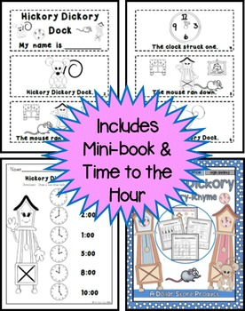 Hickory Dickory Dock Nursery Rhyme Pack