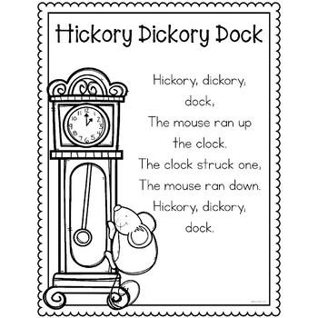 Hickory Dickory Dock Nursery Rhyme Pack