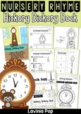 Hickory, Dickory, Dock Nursery Rhyme Worksheets and Activities