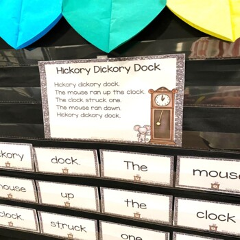 Build a Poem ~ Hickory Dickory Dock ~ Pocket Chart Center