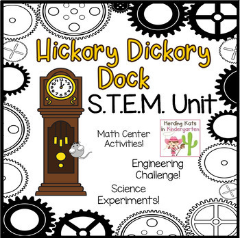 Hickory Dickory Dock STEM Nursery Rhyme Activities