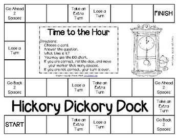 Hickory Dickory Dock - Time to the Hour Game