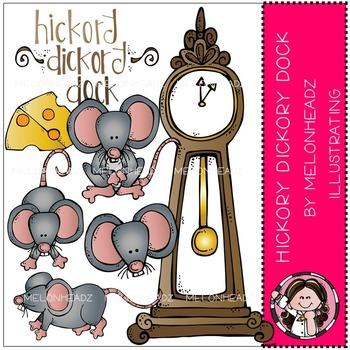 Melonheadz: Hickory Dickory Dock clip art - COMBO PACK
