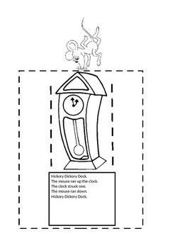 Hickory Dickory Dock moving mouse clock craft