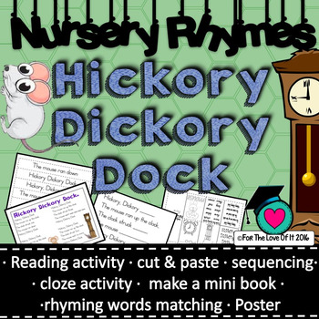 Hickory Dickory Dock nursery rhyme packet