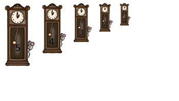 Hickory Dickory Dock themed Size Sequence preschool edcuational activities.