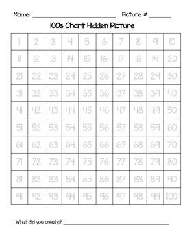 Hidden 100's Chart Pictures MEGA PACK