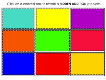 Hidden Addition SMART board Games