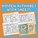 Hidden Alphabet Worksheets - Heidi Songs