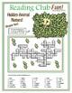 Hidden Animal Names Crossword Puzzle