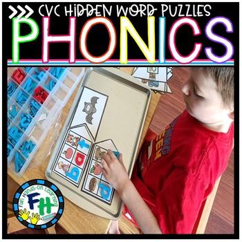 Hidden CVC Word Puzzles