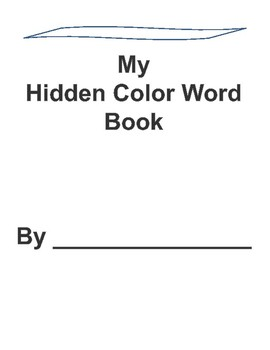 Hidden Color Word Writing Book