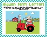 Hidden Farm Letters-Differentiated I-Spy for Common Core S