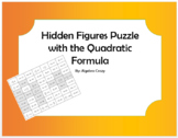 Hidden Figure Puzzle with the Quadratic Formula