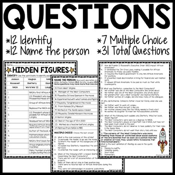Hidden Figures Background Reading Comprehension Worksheet ...