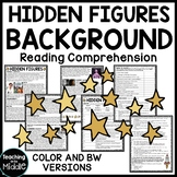 Hidden Figures Background Reading Comprehension Worksheet, Space Race, NASA