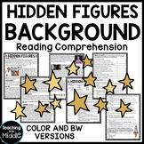 Hidden Figures Background Reading Comprehension Worksheet, Space Race, NASA