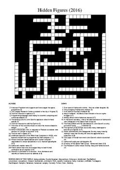 Hidden Figures Crossword Puzzle