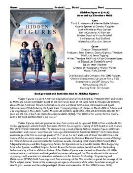 Hidden Figures Film (2016) Study Guide Movie Packet