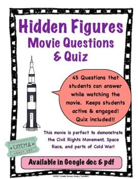 Hidden Figures Move Questions with Quiz for afterwards Bundle