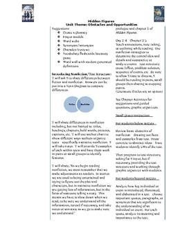 Hidden Figures Week 1 - grades 3-8 Ch 1-5 Questions, Vocabulary, Background