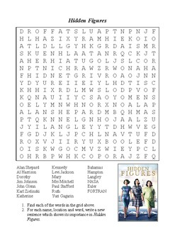 Hidden Figures - Word Search