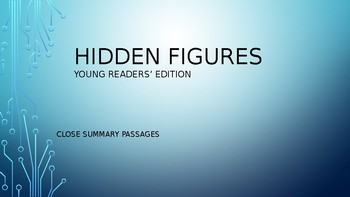 Hidden Figures - Young Readers' Edition- Chapter Summary- Close Passage