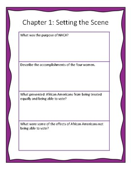 Hidden Figures Young Readers' Edition Comprehension Questions