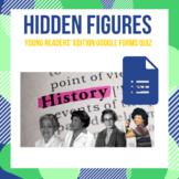 Hidden Figures Young Readers' Edition Google Form Quiz - D