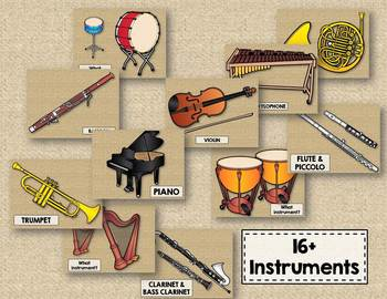 Hidden Instrument Puzzles - Click-and-Reveal Instrument Name Game