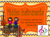 Hidden Instruments: Coloring Activity for the Music Class