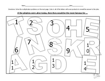 Hidden Joke (Thanksgiving)--Two-By-Two-Digit Multiplication Practice