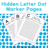 Hidden Letter Dot Marker Pages