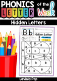 Hidden Alphabet Letters: Upper and Lower Case Letter Identification Activity