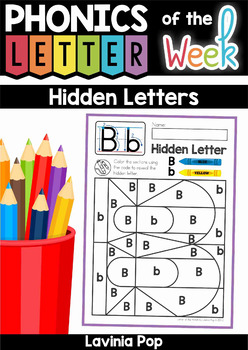 Hidden Alphabet Letters: Upper and Lower Case Letter Ident