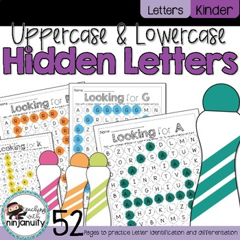 Hidden Letters - Uppercase - Letter Identification